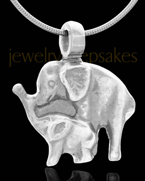 Ash Pendant Silver Plated Elephants - Eternity Collection