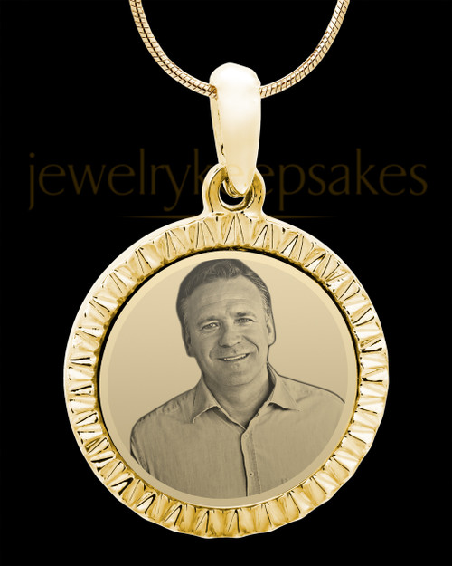Gold Plated over Stainless Photo Etched Circle