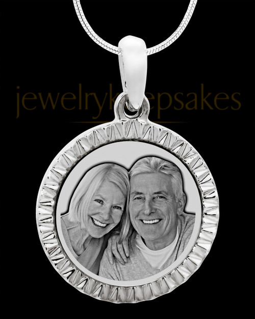 Photo Engraved Stainless Steel Etched Circle