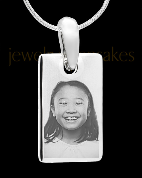 Photo Engraved Stainless Steel Small Rectangle