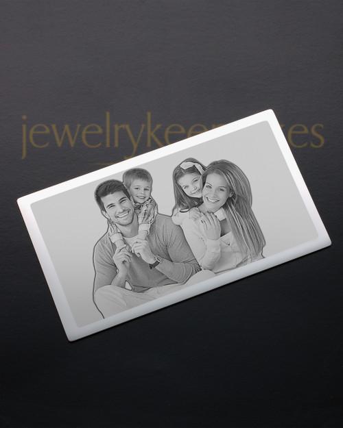 Stainless Steel Memories Photo Engraved Wallet Card