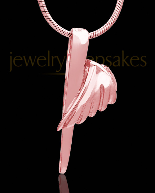 Rose Gold Grace Cremation Urn Pendant