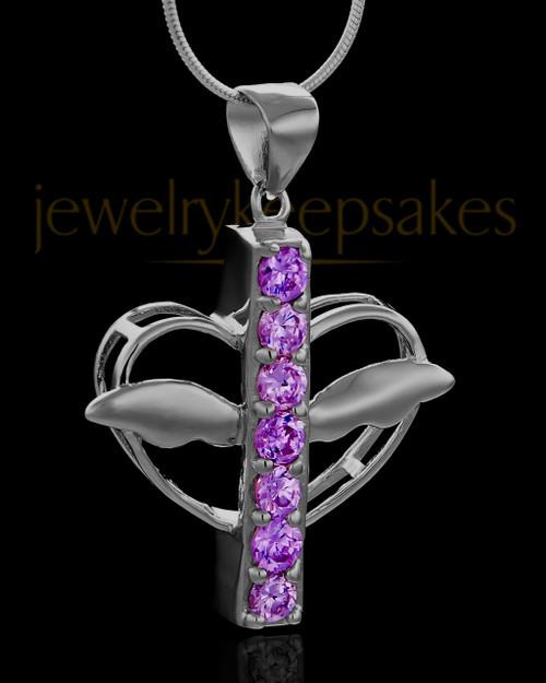 Black Plated Purple Free Spirit Keepsake Jewelry