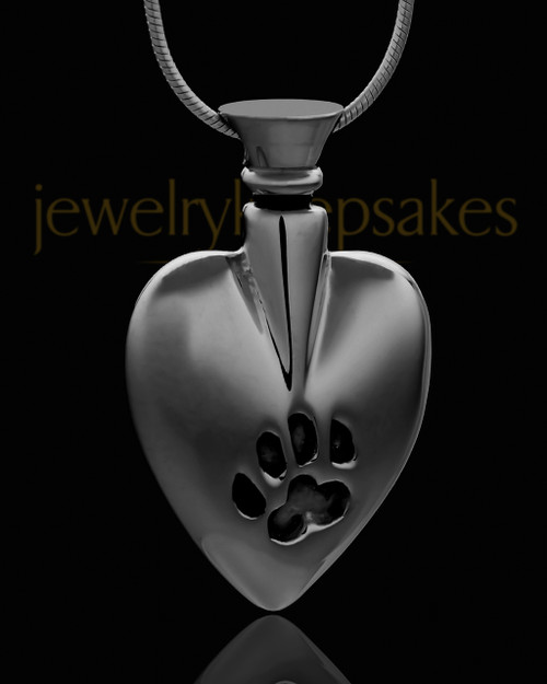Black Plated Buddy Heart Keepsake Jewelry
