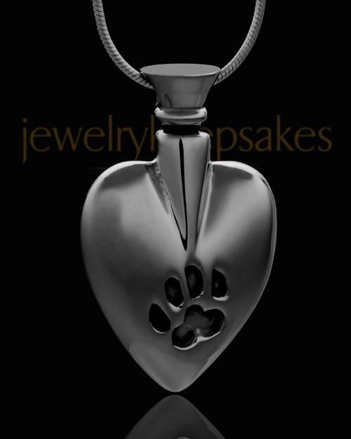 Black Plated Buddy Heart Keepsake Jewelry