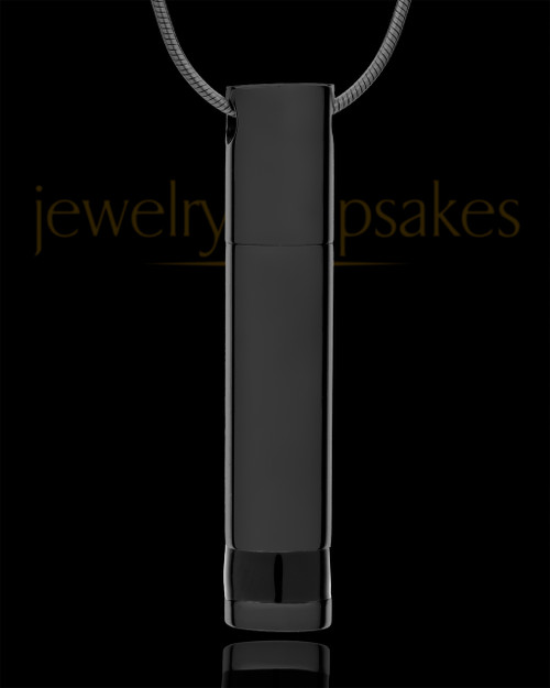 Black Cylinder Courageous Jewelry Urn