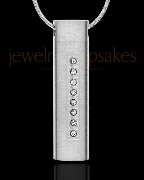 Stainless Steel Locket Necklace Endure Cylinder - Eternity Collection