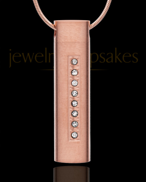 Locket Necklace Rose Gold Plated Endure Cylinder - Eternity Collection