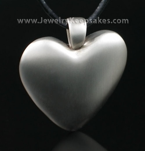 Cremation Pendant White Bronze Heart