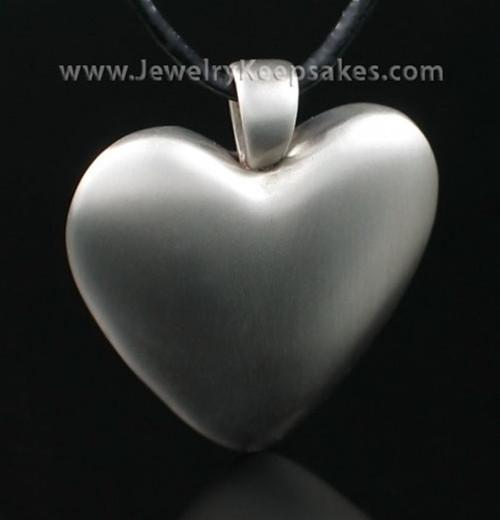 Cremation Pendant White Bronze Heart