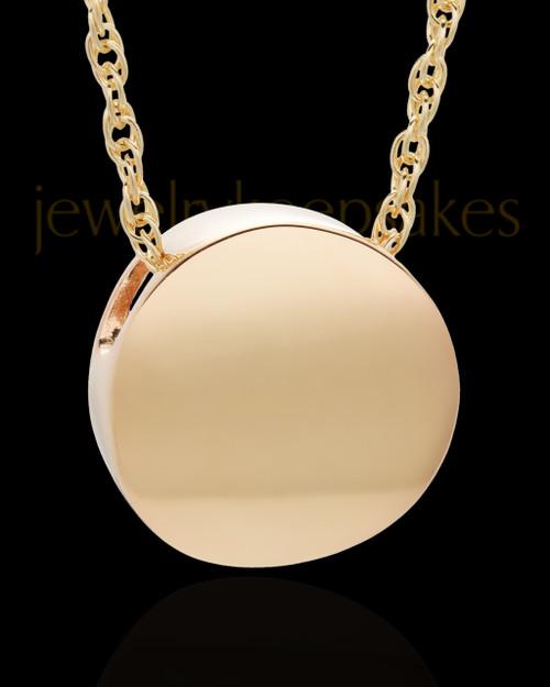 Spherical 14 Karat Gold Cremation Jewelry
