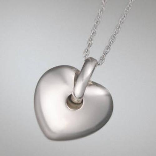 Urn Jewelry Puff Heart - Sterling Silver