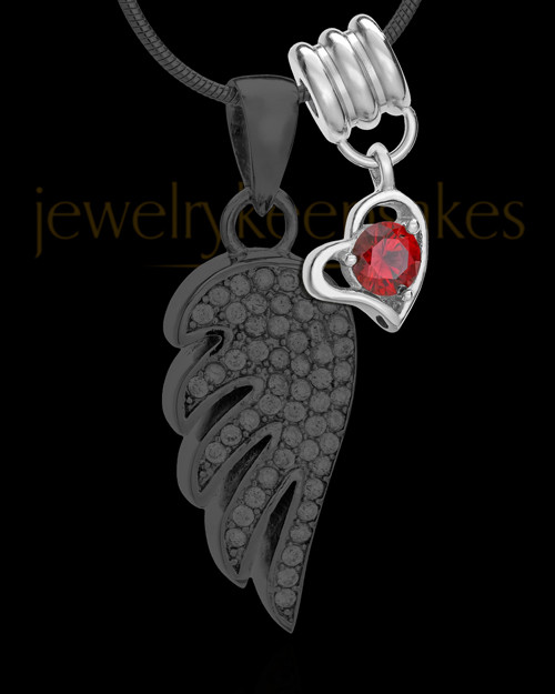 Add a January Birthstone Heart Silver