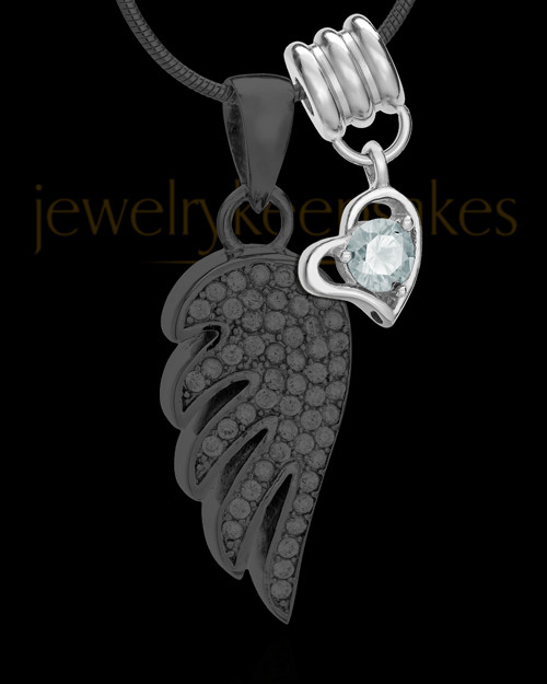Add an April Birthstone Heart Silver