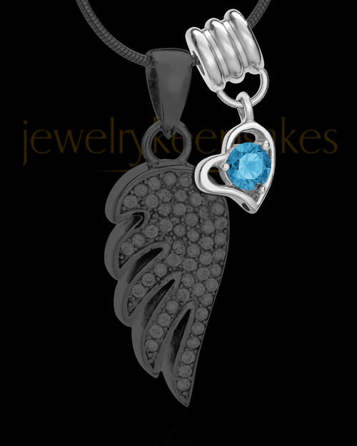 Add a December Birthstone Heart Silver