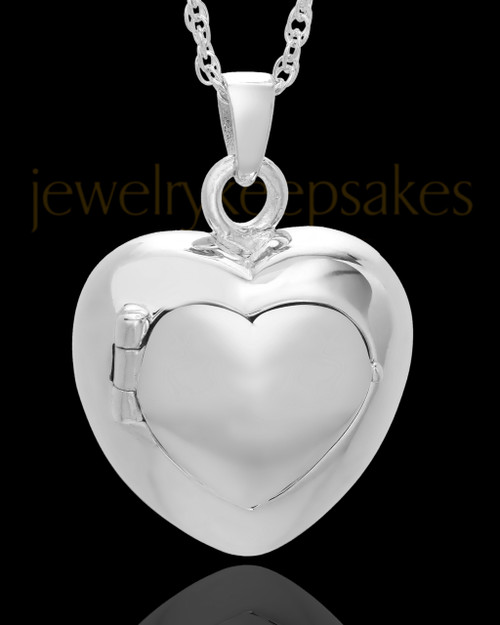 White Gold Purity Heart Cremation Pendant