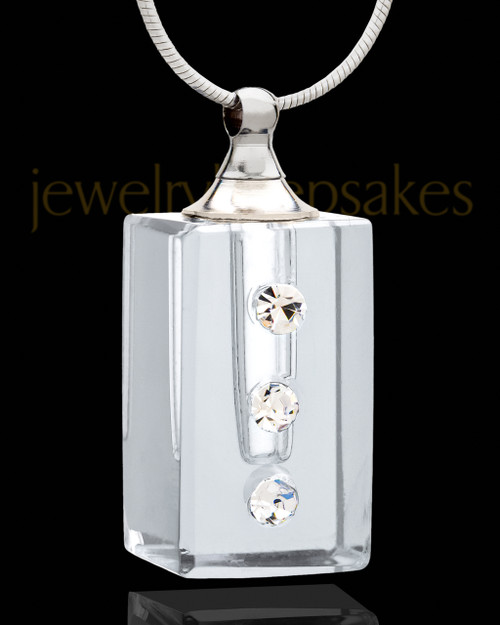 Clear Dependable Glass Urn Pendant