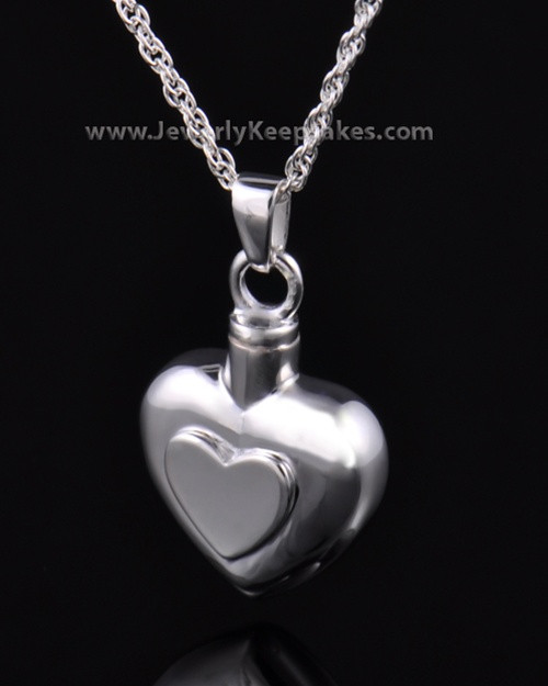 Ash Pendant Double Heart - Sterling Silver