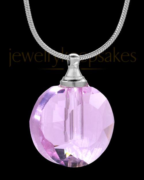 Pink Globe Glass Urn Pendant