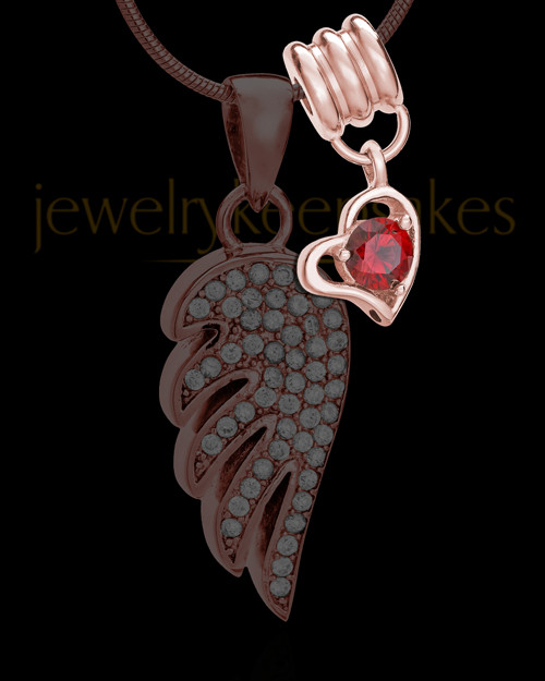 Add a Rose Gold January Birthstone Heart