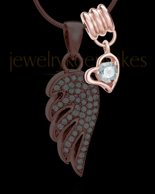 Add a Rose Gold April Birthstone Heart