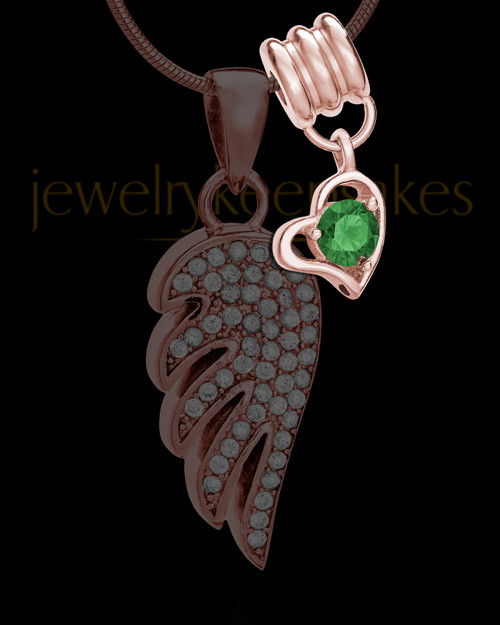 Add a Rose Gold May Birthstone Heart