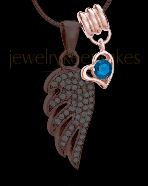 Add a Rose Gold September Birthstone Heart