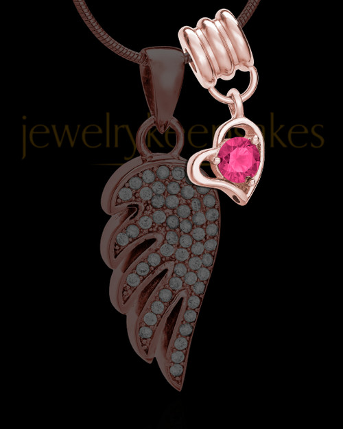 Add a Rose Gold October Birthstone Heart