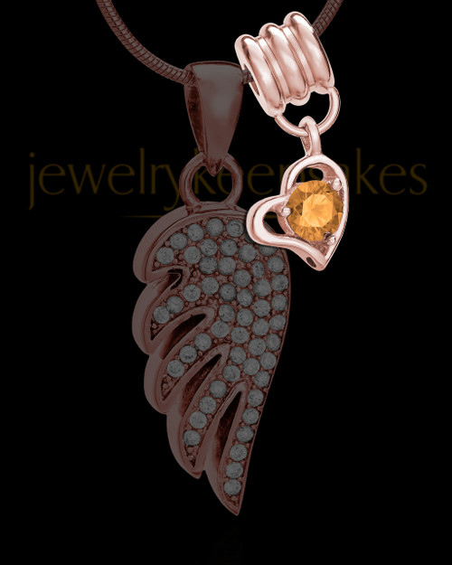 Add a Rose Gold November Birthstone Heart