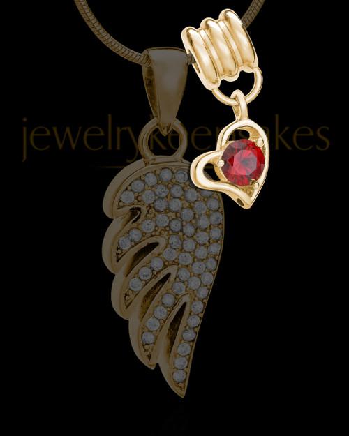 Add a January Gold Birthstone Heart
