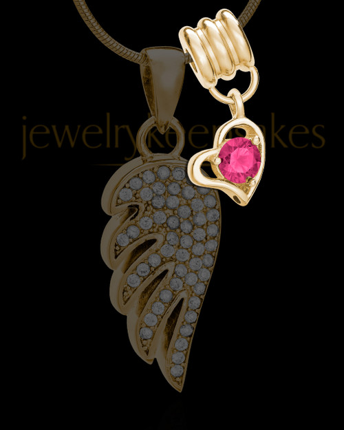 Add an October Gold Birthstone Heart