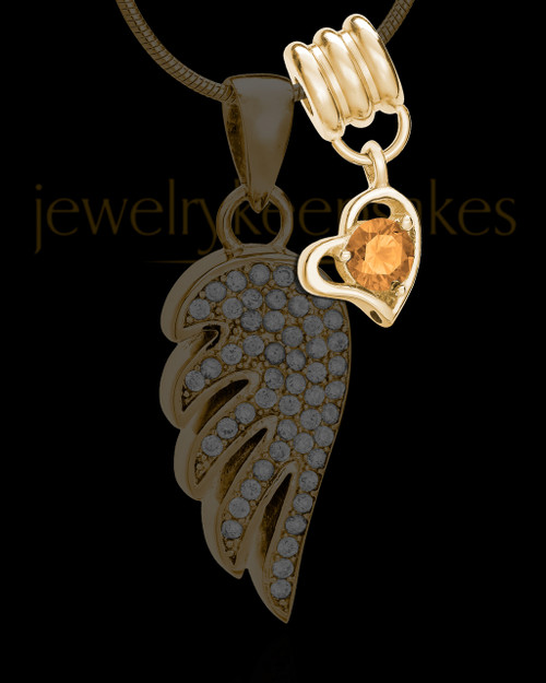 Add a November Gold Birthstone Heart