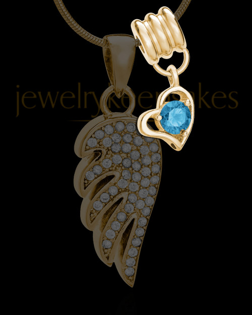Add a December Gold Birthstone Heart