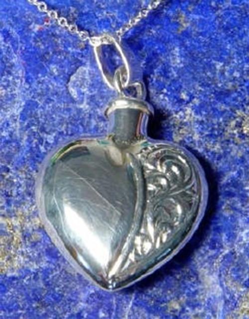 Keepsake Jewelry Half Etched Heart - Sterling Silver