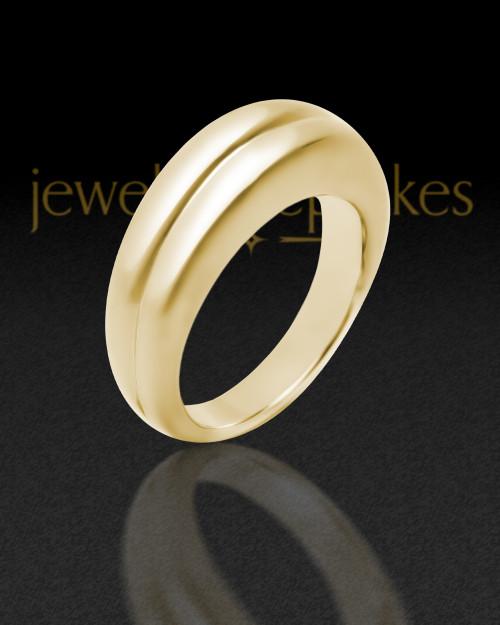 Ladies 14K Gold Princess Ash Ring