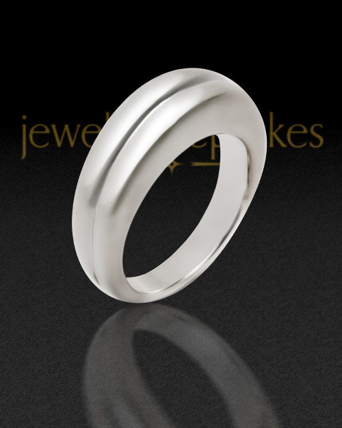 Ladies 14k White Gold Princess Ash Ring