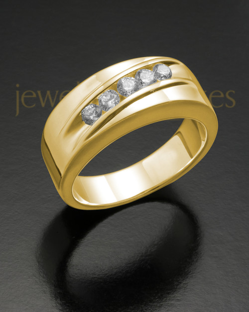 Men's 14K Gold Fondness Cremation Ring