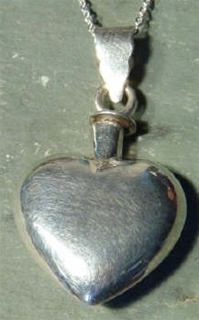 Cremation Jewelry Keepsake Heart - Sterling Silver