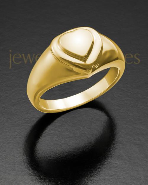 Ladies 14K Gold Forever Love Memorial Ring