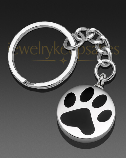 Dog Pawed Pet Stainless Steel Urn Keychain
