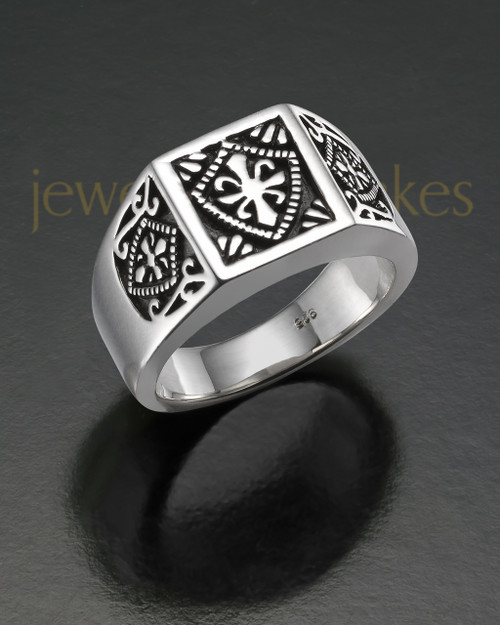 Men's Silver Royalty Cremation Ring