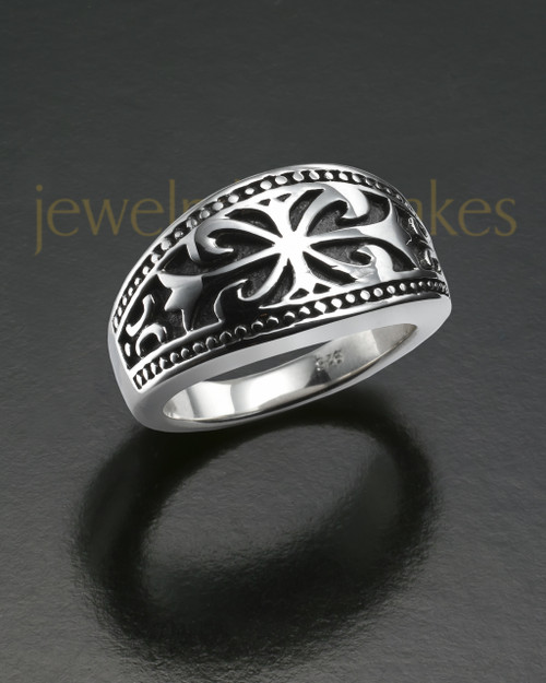 Men's Nobleman Silver Cremation Ring