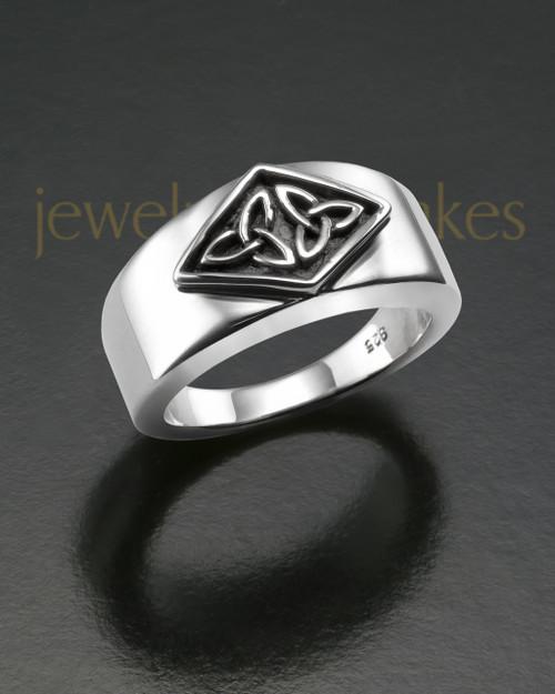 Ladies Silver Empress Cremation Ring