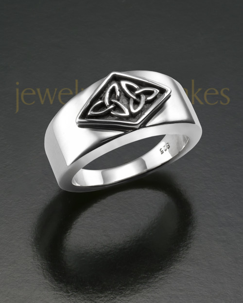 Men's Silver Jester Cremation Ring