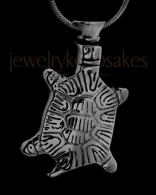 Remembrance Jewelry Black Tiny Turtle Pendant