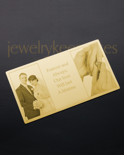 Gold Reflections Wallet Card