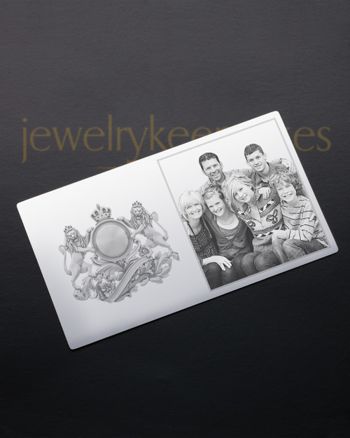 Silver Cherish Wallet Card