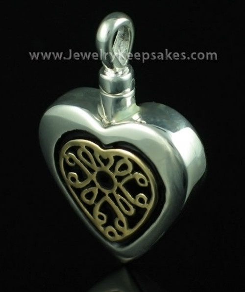 Remembrance Jewelry  Heart with 14K Gold Insert