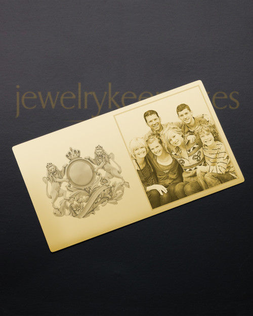 Gold Cherish Wallet Card