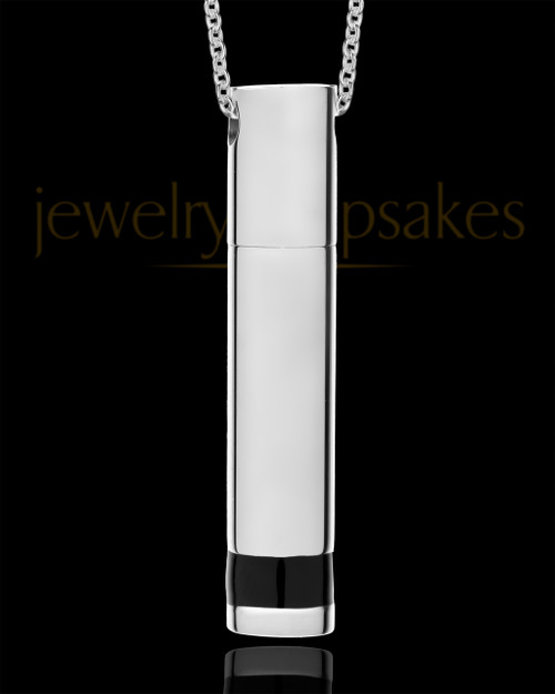 Men's Stainless Courageous Cylinder Cremation Pendant